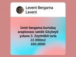 İzmir dikili kabakum grupkent arkası satılık denize yakın arsa 350 m2.