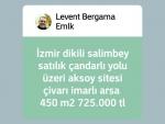 İzmir bergama kurtuluş şehir merkezinde satılık baraj civarı tarla