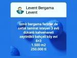 İzmir bergama otogar karşısı satılık imar planı içerisinde tarla 5.000
