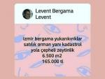 İzmir Bergama Kadıköy satılık yola çepheli kanal yanı tarla 7.700 m2.