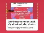 İzmir bergama kurfallı satılık asfalta 2 parsel kadastrol yola çepheli
