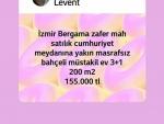 İzmir bergama kurfallı satılık köy içi mücavir alan içerisinde zeytin