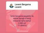 İzmir bergama muratlar satılık köye yola yakın hesaplı tarla 24.250 m2